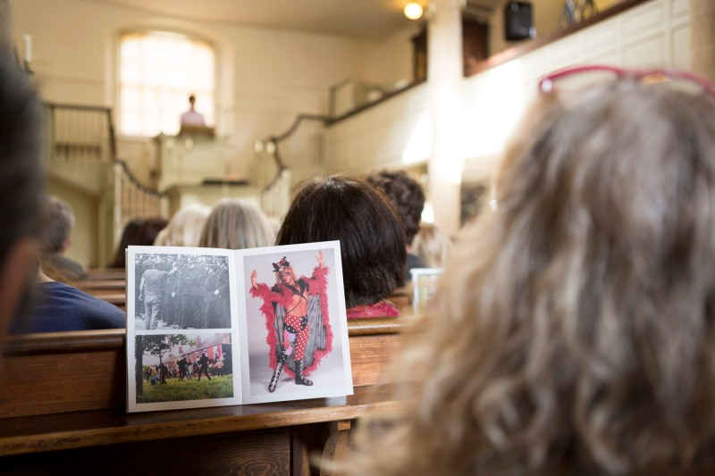 Jeremy Deller's 'Sunday Service' at John Wesley's New Room, Bristol. Photo: Max McClure