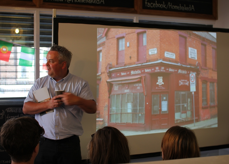 Paul delivers Homebaked's moving story in the first presentation of the day. Photo: Georgina Bolton