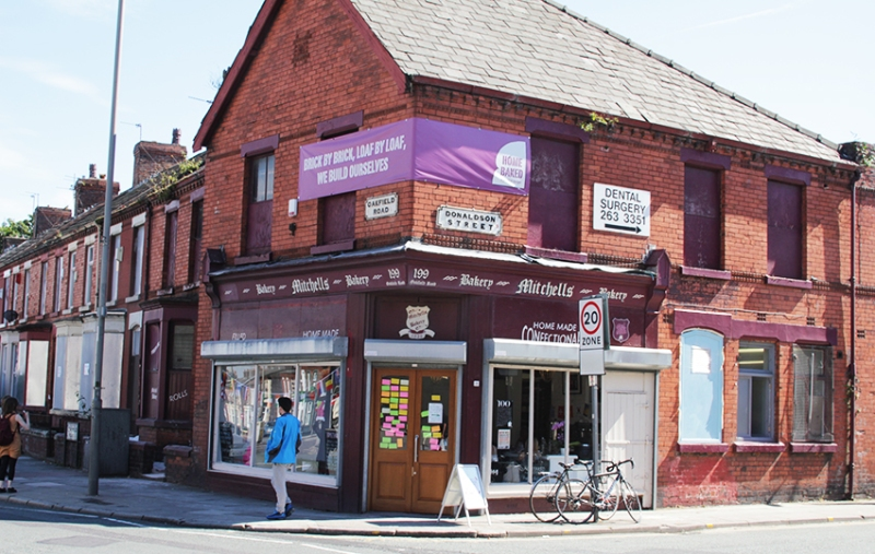 The modest exterior of Homebaked, Anfield. Photo: Georgina Bolton
