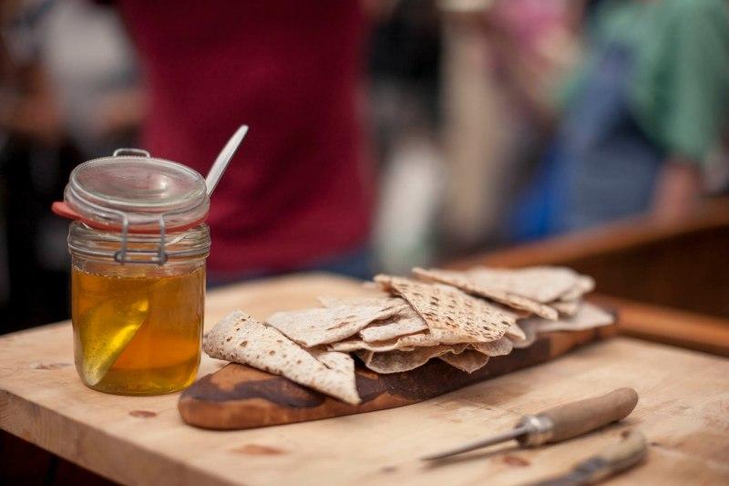 Flatbread and Hart's bakery honey. Photo: Max McClure